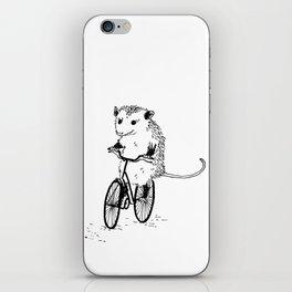 Opossums bike, too iPhone Skin