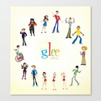 glee Canvas Prints featuring Glee by Tunasammiches