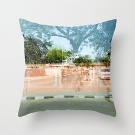 Coral Wall in India Throw Pillow