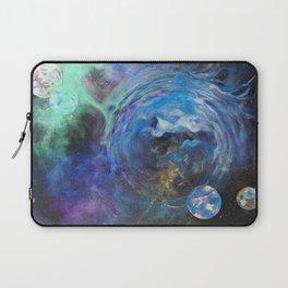 Blue Bubble Nebula Laptop Sleeve