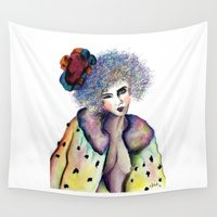 cara Wall Tapestries featuring Cara by Jessis Kunstpunkt.