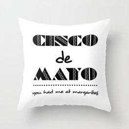 Bold Cinco de Mayo Mexican Holiday Typography Throw Pillow