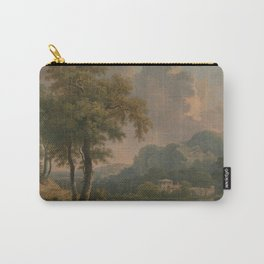 Abraham Pether - Wooded Hilly Landscape (1785) Carry-All Pouch