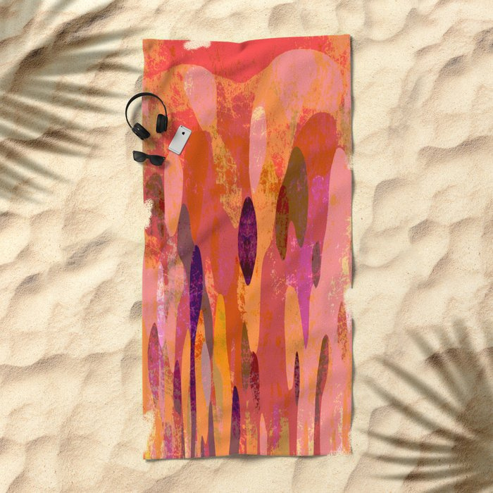 Baroque in red Beach Towel