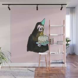 sloth birthday Wall Mural