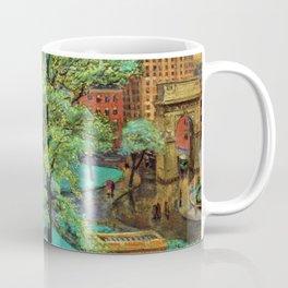 "Classical Masterpiece 'Spring, Washington Square, NYC"" by John French Sloan Coffee Mug"