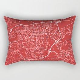 Athens Map, USA - Red Rectangular Pillow
