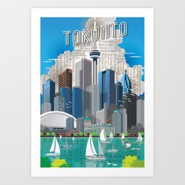 Toronto Skyline wide Art Print