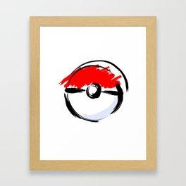 poke Framed Art Print