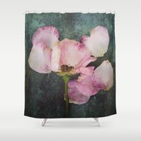 depression Shower Curtains featuring Wilted Rose II by Maria Heyens