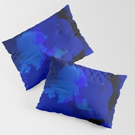 Night blue strokes Dark blue and black abstract painting B01YK Pillow Sham