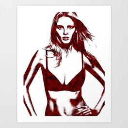 Lara Stone Calvin Klein Fashion Art Print