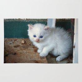 White Kitten Rug