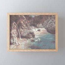 McWay Falls Big Sur California Framed Mini Art Print