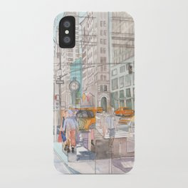 Reflection in the New York City windows II iPhone Case