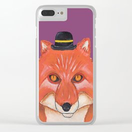 Mr. Fox Clear iPhone Case