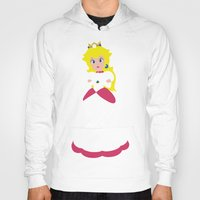 princess peach Hoodies featuring Princess Peach - Minimalist #2 by Adrian Mentus