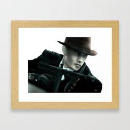 Johnny Depp// John Dillinger Framed Art Print