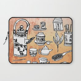Chinese Tea Doodles 2 Laptop Sleeve