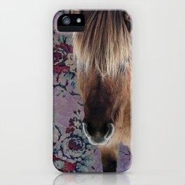 floral Icelandic pony iPhone Case