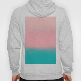 Modern abstract emerald green pink coral ombre Hoody