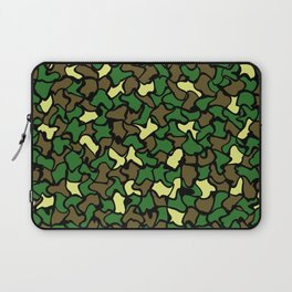 Camouflage Wobble Tile Pattern Laptop Sleeve
