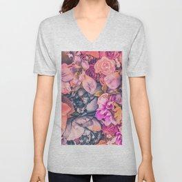 Flower color 4 Unisex V-Neck