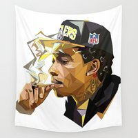 hip hop Wall Tapestries featuring Hip-hop cubism by Katty Zyu