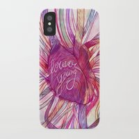 forever young iPhone & iPod Cases featuring FOREVER YOUNG by flaviasorr