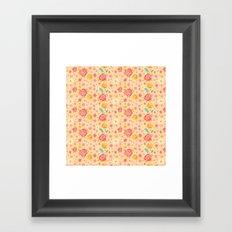 Peach Roses Framed Art Print