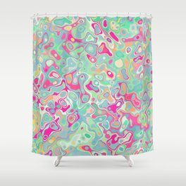 Vintage balloons Shower Curtain