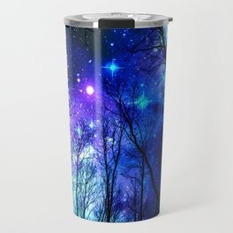 black trees purple blue space copyright protected Travel Mug