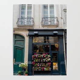 Flower Shop, Paris Poster