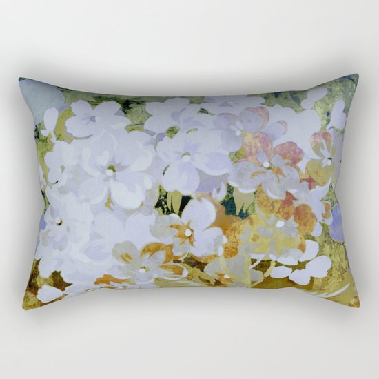 hydrangea and textures Rectangular Pillow