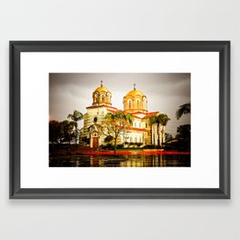 St. Stevens Serbian Orthodox Cathedral, Alhambra, CA Framed Art Print