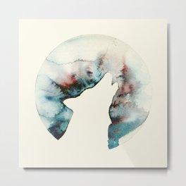 Tan Wolf Metal Print