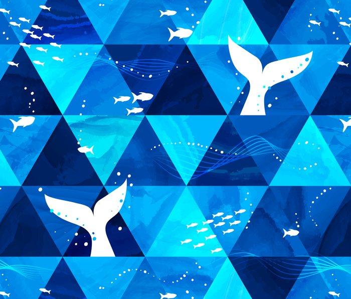Blue Whale Singing Metal Travel Mug