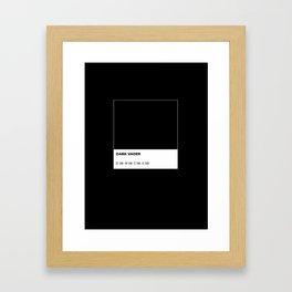 Dark Vader Framed Art Print