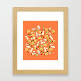 Tacos and Burritos Framed Art Print