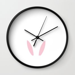 Happy Easter Popped Out Bunny Ears Wall Clock