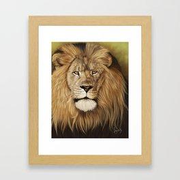 Lion Painting Portrait Framed Art Print