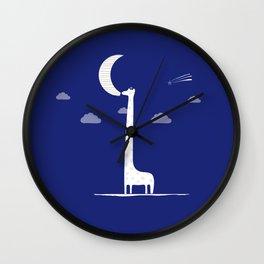 Giraffe Moon Wall Clock
