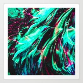Abstract Paint Mix 11 Art Print