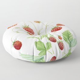 Wild Strawberries Floor Pillow