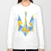 ukraine Long Sleeve T-shirts featuring Ukraine Geometry by Sitchko Igor