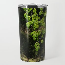 Forest and Green Leaves Travel Mug