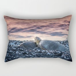 Resting Sea Turtles Rectangular Pillow