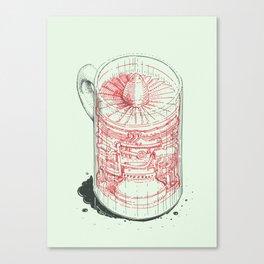 Coffee Jet Canvas Print