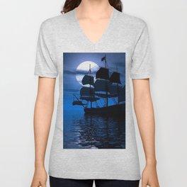 Sailing Ship Unisex V-Neck