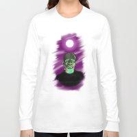 frankenstein Long Sleeve T-shirts featuring Frankenstein  by JT Digital Art
